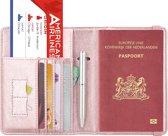 Luxe style RFID Paspoort hoesje / Paspoorthouder Roze-Goud