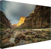 Colorado River Grand Canyon Canvas 120x80 cm - Foto print op Canvas schilderij (Wanddecoratie woonkamer / slaapkamer)