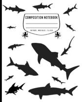 Composition Notebook: Wide Ruled - 100 pages - White Shark Journal and Elementary Writing Composition Book for Boys, Girls and Kids