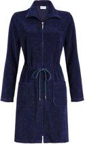 Donker blauwe fleece badjas Ringella