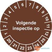 Keuringssticker Volgende inspectie op  Ø 30 mm - 25 stickers