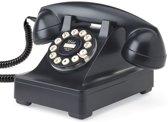 Wild & Wolf Serie 302 - Retro telefoon - Zwart