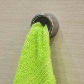 Zelfklevende Handdoek Houder - Wand Ophang Haak Zelfklevend - Keuken Ophanghaak Zonder Boren - Theedoek / Handdoek Klem - RVS