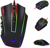 Red Dragon Elite Pro - Optische Gaming Muis | 24000 DPI - 24 Knoppen Programmeerbaar - Ergonomisch Design - LED Backlight
