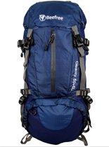 Beefree 55 Liter nylon Backpack Blauw  Inclusief regenhoes