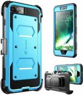 i-Blason iPhone 8 Plus hoes extra bescherming met holster Blauw