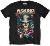 Asking Alexandria - Hat Skull heren unisex T-shirt zwart - S