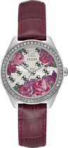 GUESS Watches W0905L2 - Horloge - Dames - Staal - Paars -  ⌀ 36 mm