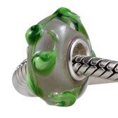 Zilveren murano glas bedel