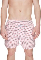 Pockies Dirty Luv Boxershort - Rood/Wit- Maat XL