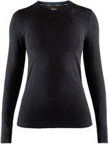 Craft Fuseknit Comfort Rn Ls Sportshirt Dames - Black