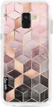 Casetastic Dual Snap Case Samsung Galaxy A8 (2018) - Soft Pink Gradient Cubes