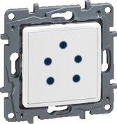 Legrand NILOÉ inbouw Belgacom telefoon stopcontact - enkelvoudig - wit
