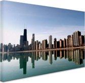 FotoCadeau.nl - Chicago skyline Canvas 60x40 cm - Foto print op Canvas schilderij (Wanddecoratie)