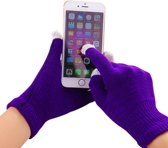 GadgetBay Winter touchscreen handschoenen paars wol