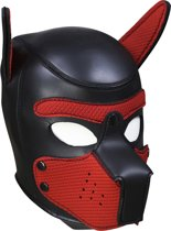 Banoch - Lindo Perrito Rojo Neoprene - honden masker puppy play rood neopreen