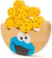 Houten sesamstraat speelgoed - Balans spel - Koekie monster! - FSC® - Speelgoed vanaf 1 jaar