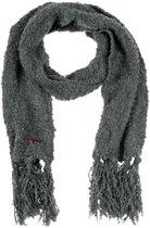 Sjaal Winter - Hippe Gebreide Acryl Sjaal - Granitepatroon Mêlee - Junior - Jongens / Meisjes - Antraciet - 145 cm