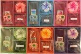 Set van 6 geuren wierook met geurkaarsje in cadeauverpakking