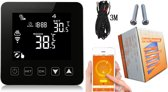 MoboSmart Wi-Fi slimme Thermostaat - Afstand Bestuurbaar - Mobiele app - Alexa Google Assistent - CV Ketel - Duurzame Energie