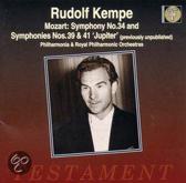 """Mozart: Symphonies no 34, 39 & 41 """"Jupiter"""" / Rudolf Kempe"""
