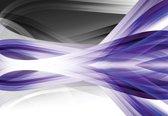 Fotobehang Abstract Light Pattern Purple   XXL - 312cm x 219cm   130g/m2 Vlies