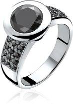 ZINZI zilveren ring zwart ZIR841Z