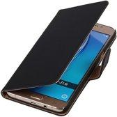 Zwart Effen booktype cover hoesje voor Samsung Galaxy J5 2016