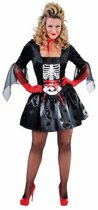 Halloween Dames skelet jurk 40 (l)