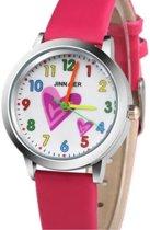 Charme Bijoux® Horloge- tiener- hartjes- Rood