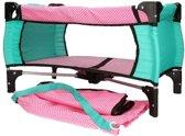 Roze campingbedje voor poppen