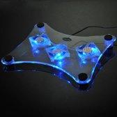 Laptop Koeler met 3 fans en blauw LED licht