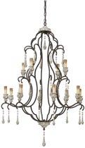 Light & Living Hanglamp  ZANETA 12L E14 Ø90x140 cm  -  antiek white wash