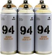 MTN94 Spuitbussen huidskleur pakket - 6 huidskleuren + zwart en wit - Lage druk en matte afwerking spuitverf - Graffiti verf voor vele doeleinden zoals voor diy, klussen, graffiti, hobby en kunst
