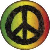Signs-USA Peace Sign - Retro Wandbord - Metaal - 30 cm rond