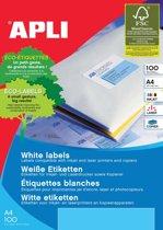3x Apli Witte etiketten 199,6x144,5mm (bxh), 200 stuks, 2 per blad (2423)