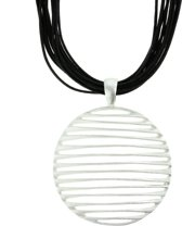 Necklace striped circle
