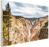 Yellowstone Verenigde Staten Hout 120x80 cm - Foto print op Hout (Wanddecoratie)