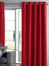 ruben gordijn verduisterend rood 150x250 kant en klaar met ringen luxe zonwerende gordijnen