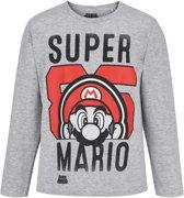 Super-Mario-Bros-T-shirt-met-lange-mouw-grijs-maat-128