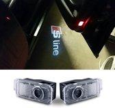 Logo deur projector geschikt voor Audi S-Line - 2 stuks