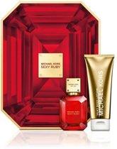 Michael Kors Sexy Ruby - Geschenkset - Eau de parfum 50 ml -  Bodylotion 100 ml