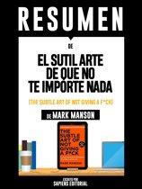 Afbeelding voor 'El Sutil Arte De Que No Te Importe Nada (The Subtle Art Of Not Giving A F*uck) - Resumen Del Libro De Mark Manson'