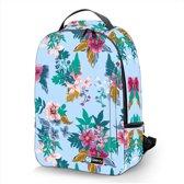 Laptop rugzak 17,3 Deluxe blauw bloemen - Sleevy - schooltas