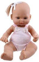Falca Babypop Newborn 16 Cm Meisjes Roze Met Staart