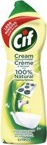Cif Citroen Cream - 750 ml - Schuurmiddel - 8 stuks - Voordeelverpakking