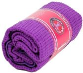 Yoga handdoek PVC antislip paars (183x65 cm)