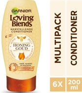 Garnier Loving Blends Honinggoud - 6 x 200 ml - Conditioner - Voordeelverpakking