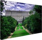 Het Koninklijk Paleis in Madrid Canvas 30x20 cm - Foto print op Canvas schilderij (Wanddecoratie)