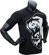 Super Pro T-Shirt Lion Logo Zwart/Wit Large
